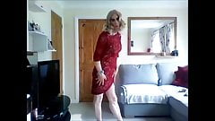 New sexy red lace dress pt2