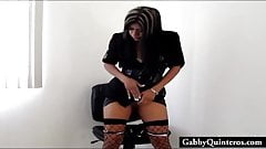 Big Tit MexiMILF Gabby Quinteros Teasing Her Pussy