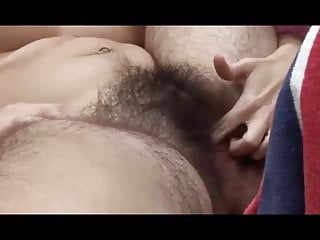 Young Hairy Pussy Hairy Ass Hairy Pits gets off Outdoors