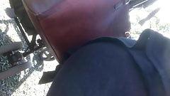 Candid milf ass see through leggings