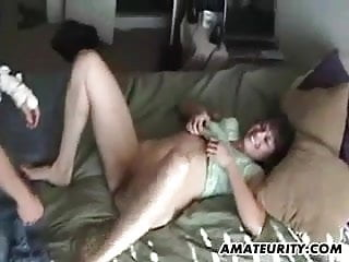 Amateur girlfriend fucks with cumshot on her hot ass