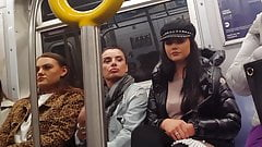 Euro tourists on train hidden cam