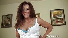 Yanks MILF Catherine de Sade Masturbates