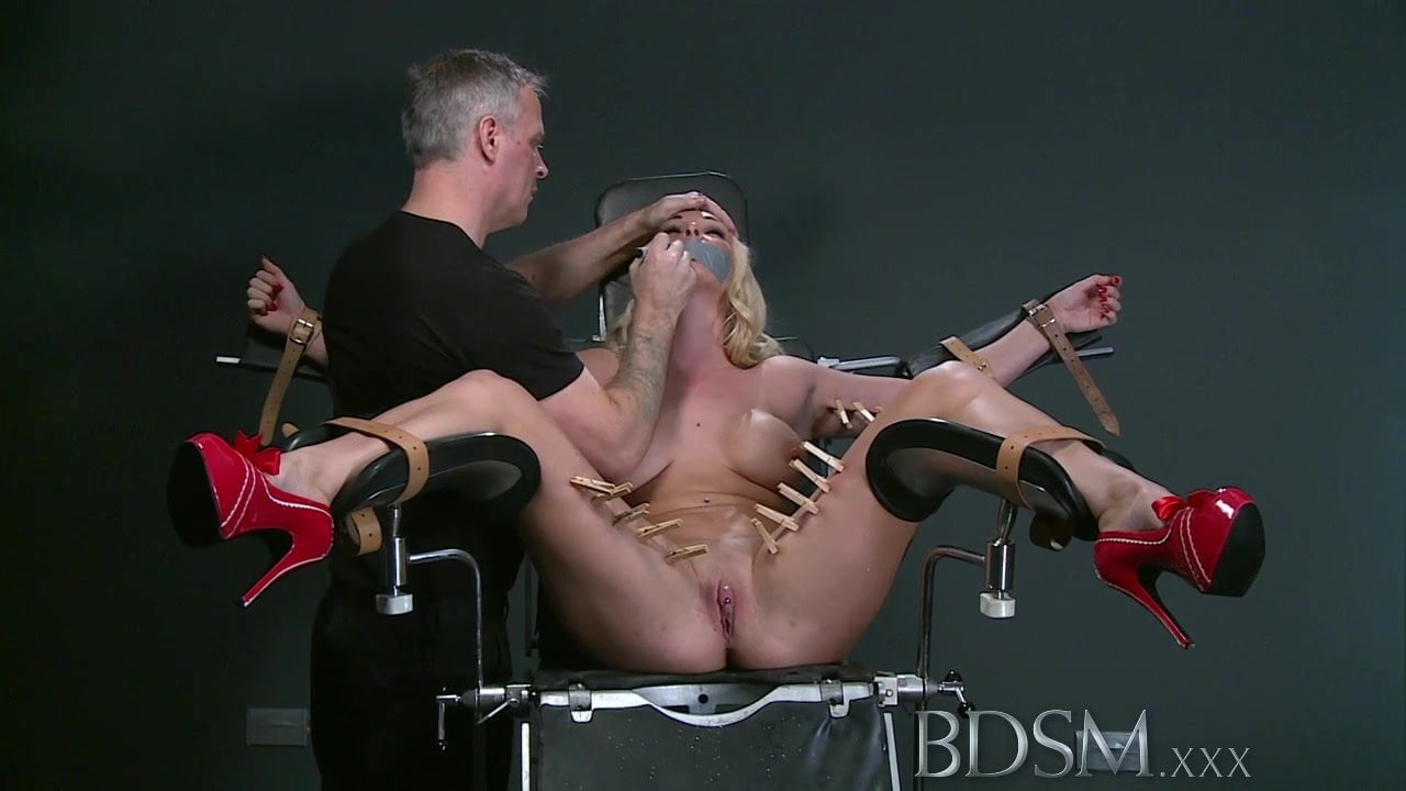 Bdsm Blonde Sub Gets Tied Up And Has Her Holes Filled-pic3883