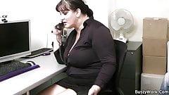 Fat secretary blowjob and office banging