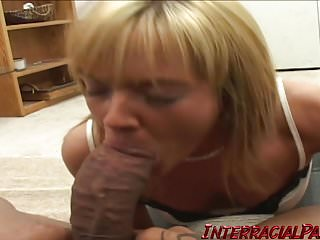 Beautiful blue eyes and sexy ass takes 1st BBC!