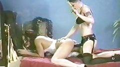 Vintage cigar lesbian strapon fucking