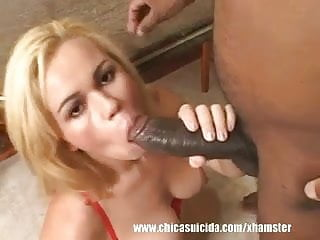 Nasty Blonde Wants The Biggest Black Cock She Can Find