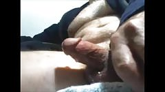 Mature guy unloads his cock