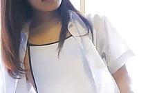 white swimsuit cameltoe asian teen