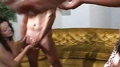 Horny hunks banging hot chicks