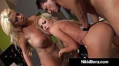 Sexy Babes Nikki Benz & Bridgette B Have Hot Threesome!