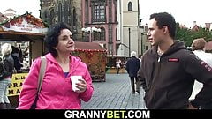 Mature tourist is picked up and fucked