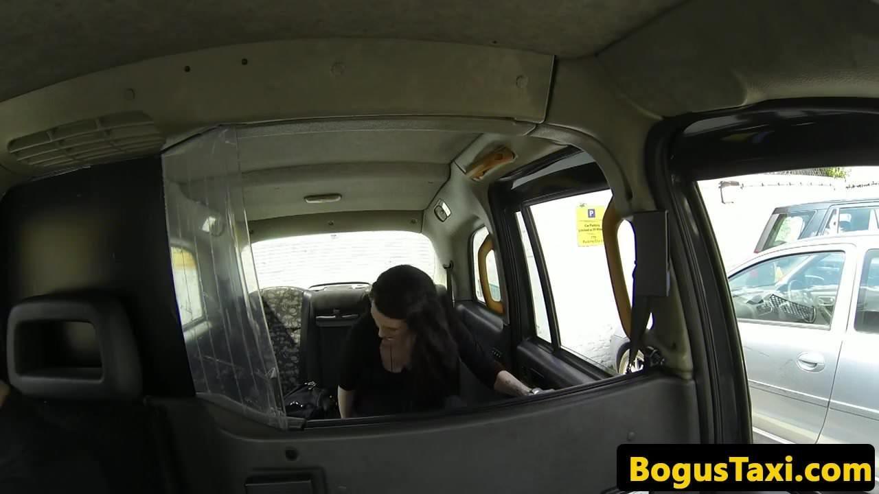 Taxi brit doggystyled through sluthatch