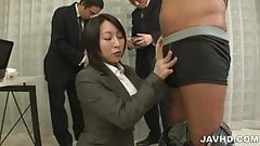 Yuuna Hoshisaki servicing her horny bosses needs
