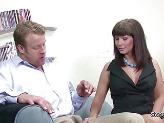 Sexy Mother get fucked by Friend of her son when home alone
