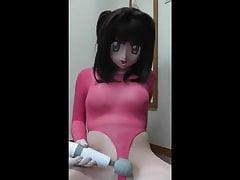 kigurumi pink swimsuit vibrating 's Thumb