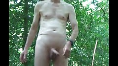 Back for another naked wank in the woods