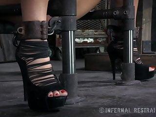 Masturbate device - Busty milf orgasmed in device bondage