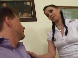 Boss fucks beautiful young secretary in the office