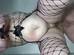 fucked from behind,swinging tits and dripping creampie 4a