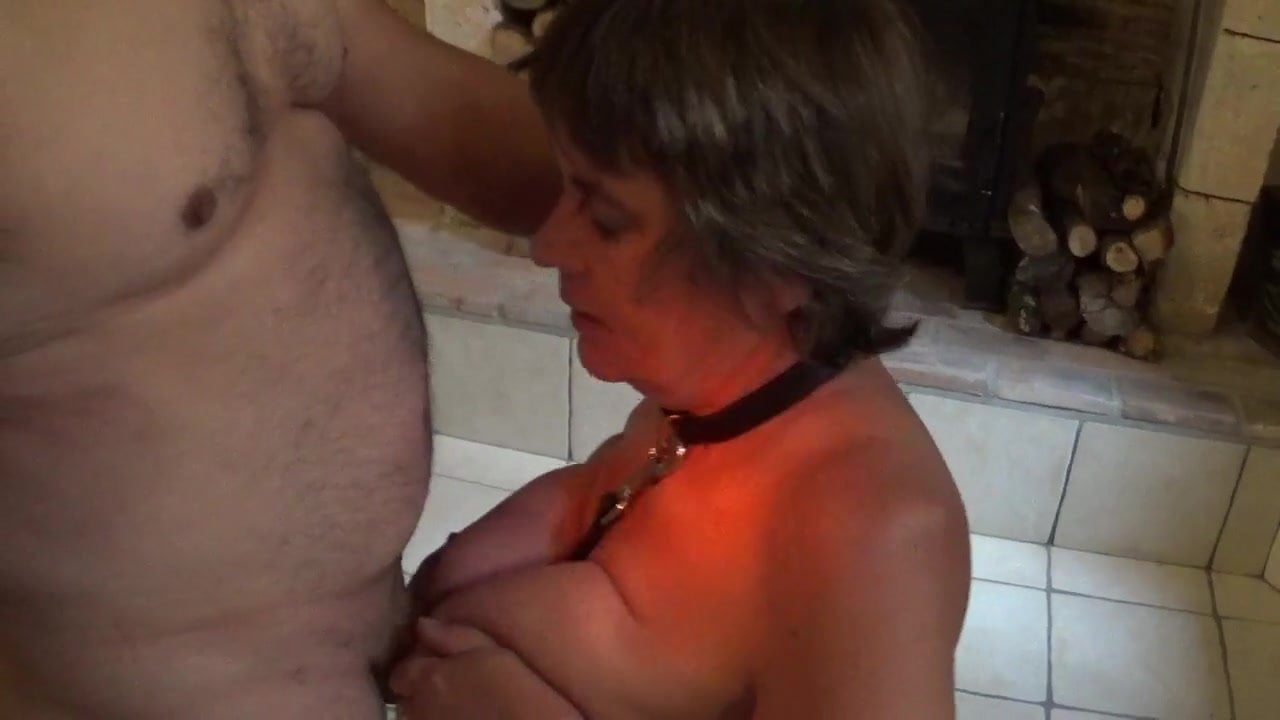 Teen with bound boobs masturbating