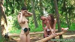 Bikini teen fucked in the forest