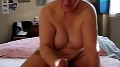 My Slut Mature Aunt Jerking My Cock