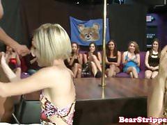CFNM milfs cocksucking at wild stripper party