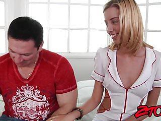 Beautiful nurse Haley Reed decides to taste patients dick