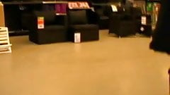 Upskirt Jody at the mall center
