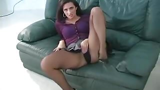 Ava Wearing Pantyhose Wants You To Stroke For Her