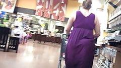 BBW Pawg in Purple Dress