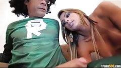 Beautiful transsexual Juliana Souza take Super cock