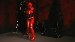 latex girl,hooh,bound and gagged