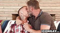 Horny stepdad Kristofer Weston takes stepson Dannys big cock