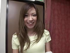 Japanese girl gets a mouthful of cum in hotel room