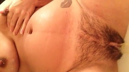Titty milking, peeing and pussy rubbing