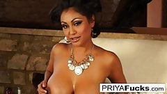 Indian MILF Priya teases then pleases her sexy wet hole