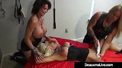 Big Breasted Cougar Deauxma Dominates Kasey Storm In 3Way!
