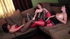 3 women lots of nylon