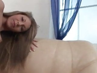 Long Haired Skinny Girl Gets DPed