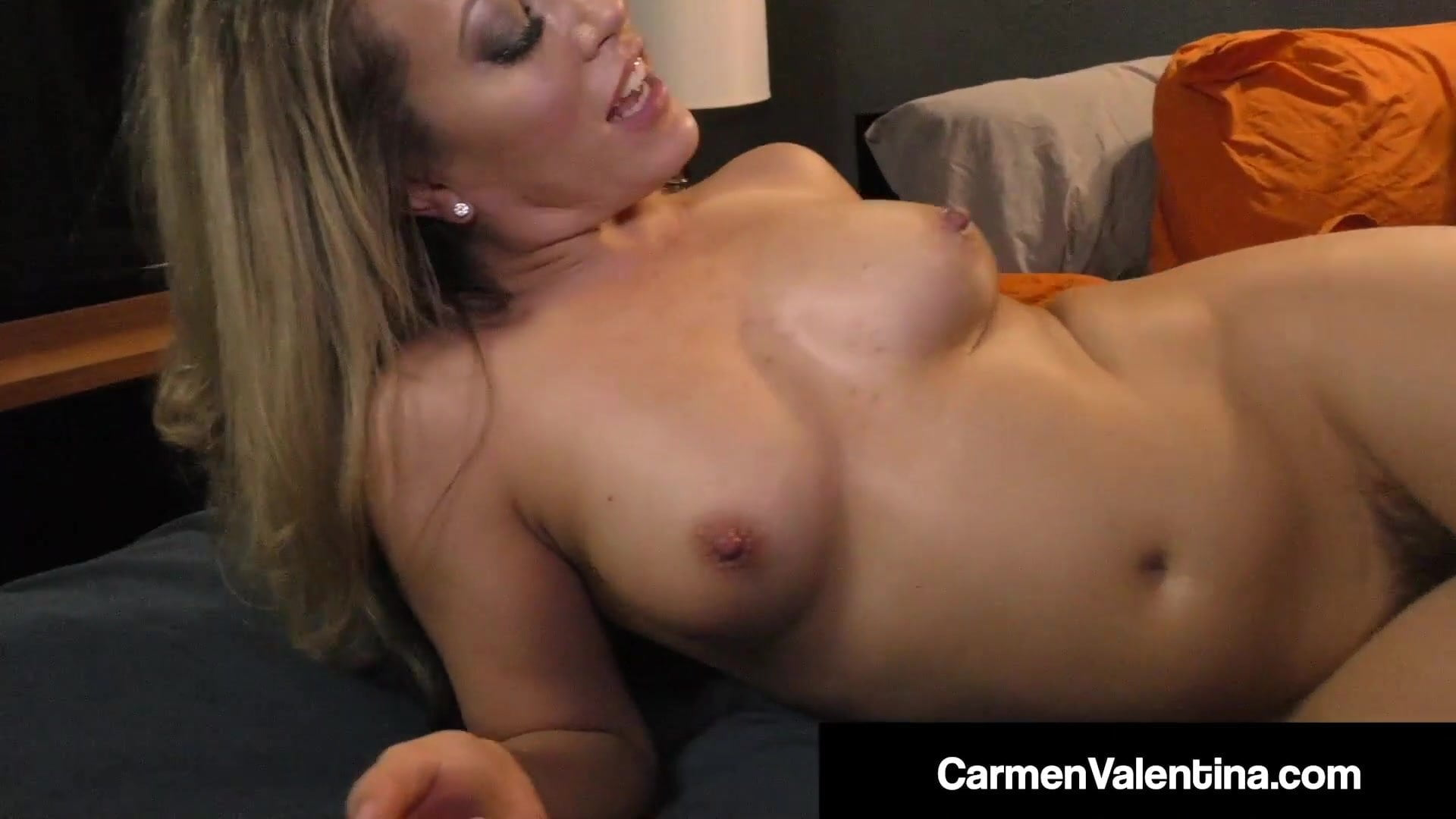 Small Star Carmen Valentina Gets Wrecked By Big Black Cock!