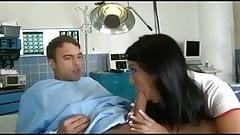 Hot nurse with eretion patient