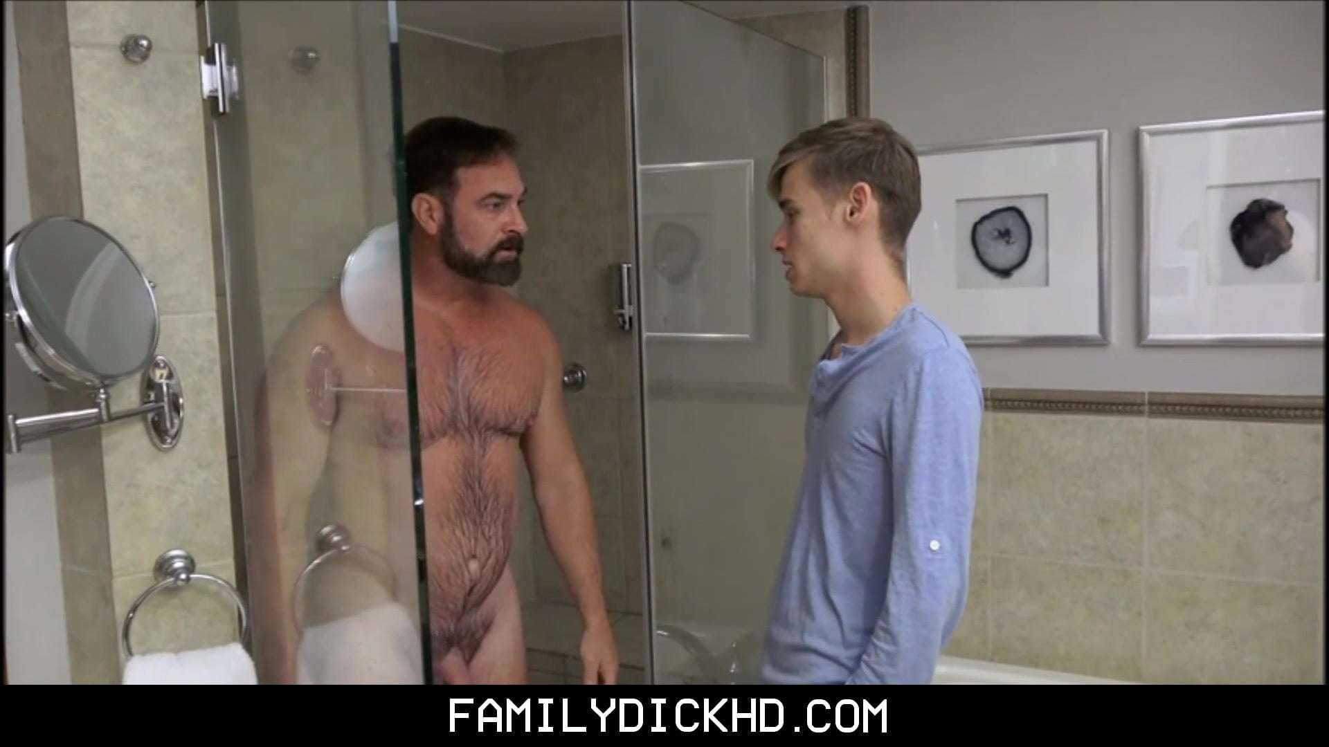 Twink Step Son And Bear Stepdad Intercourse After Showering Collectively