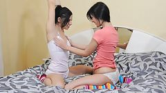 Sabina and Lola - pleasure in bed