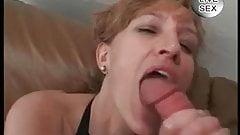 Pierced MILF sucking cock and eating cum pussy Piercings