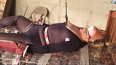 Foxy slave girl is tied down and tormented