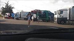 raz du cul devant routiers