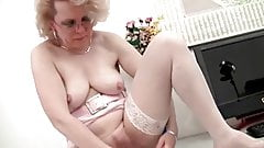 Blonde Mature and Her Dildo (Masturbation)